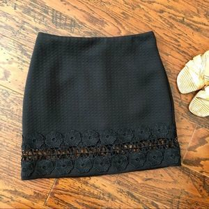 Topshop NEW!! Daisy Cut-Out Mini Skirt - Size 2